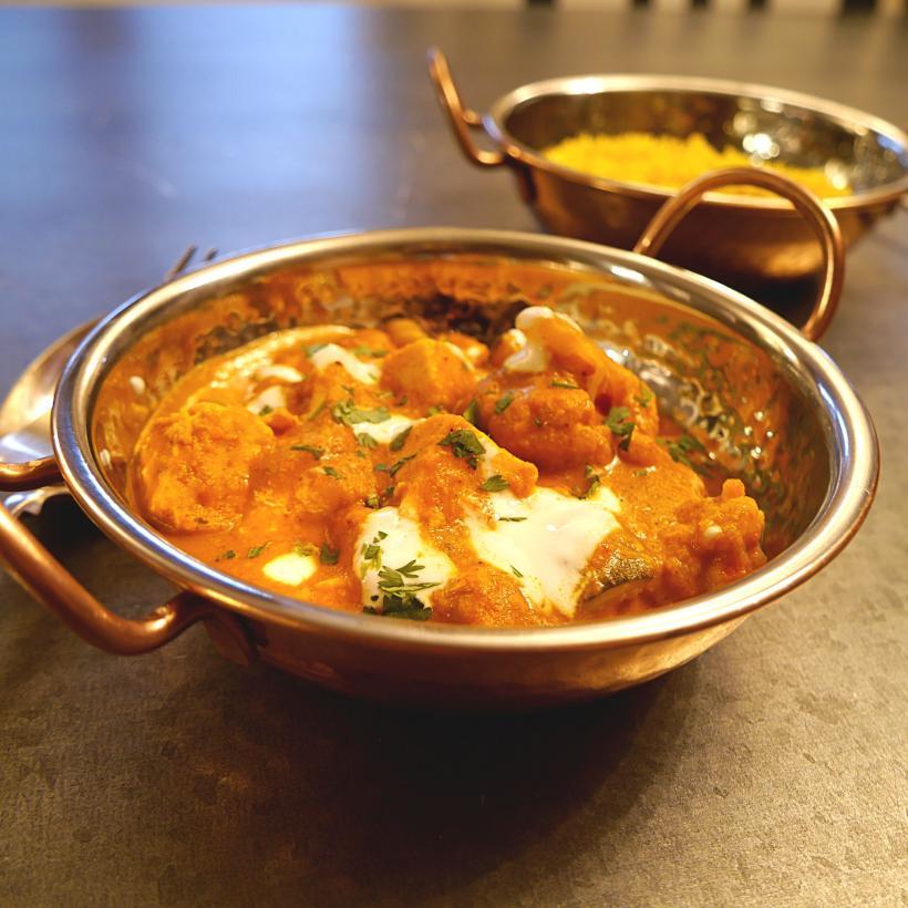 Vegetarian tikka masala curry