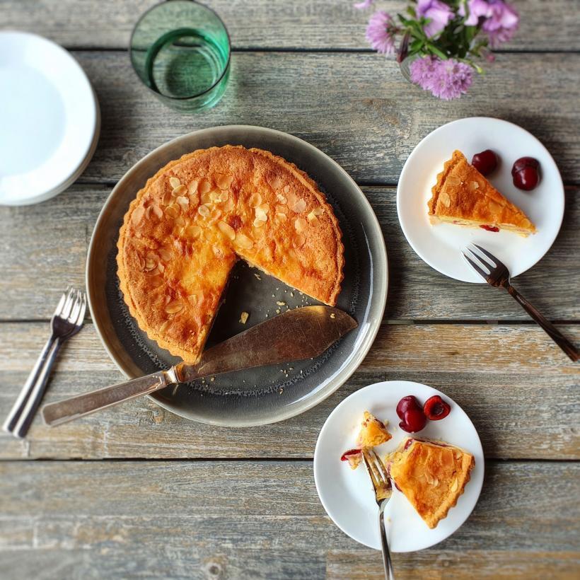 Cherry almond tart